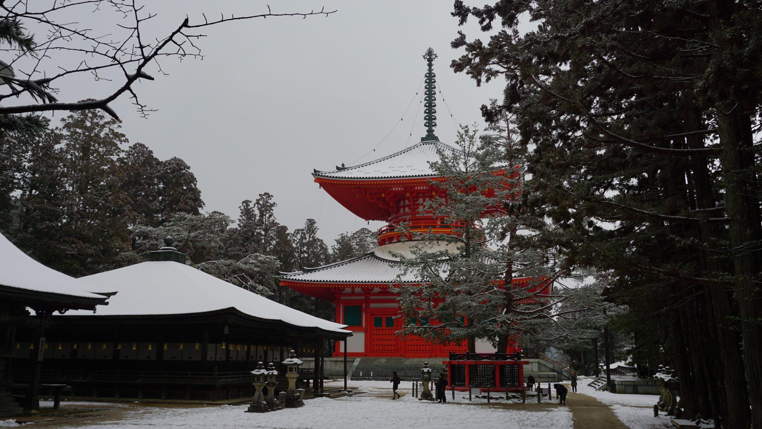 高野山 冬